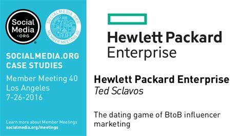 hewlett packard si鑒e social hewlett packard enterprise the dating of btob