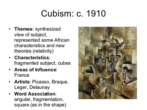 when did cubism begin movements throughout european history