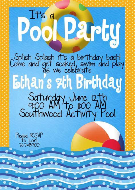 pool invitation with a few tweaks pool invitations pool