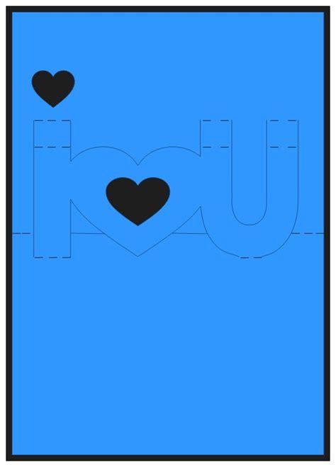 i u pop up card template scrappinbykris i u pop up card with tutorial