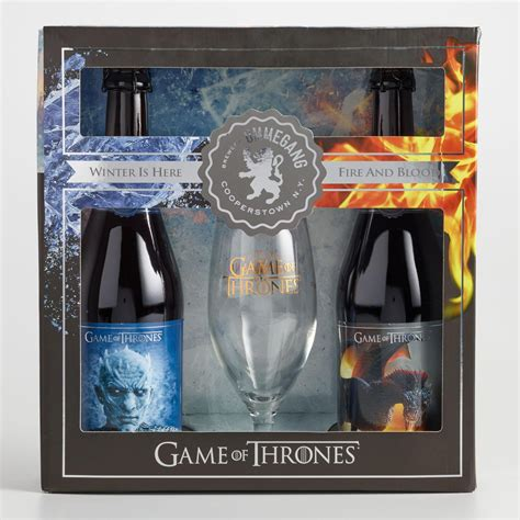 of thrones gifts ommegang of thrones gift set with glass world market