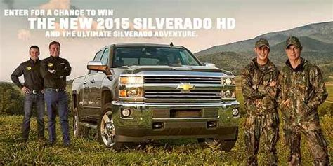 Win Your Chevy Sweepstakes - win your chevy in 2015 silverado hd ltz sweepstakes sweepstakesbible