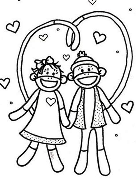 Monkey Love Coloring Pages | monkey in love coloring pages printable gianfreda net