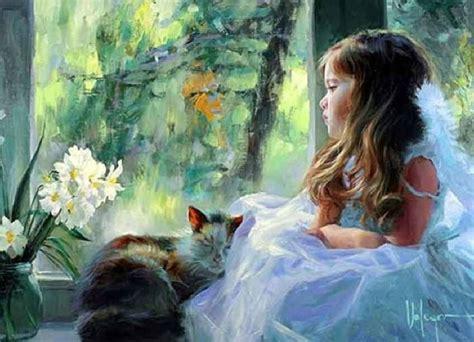 children s painting cat cat and paintings vladimir volegov
