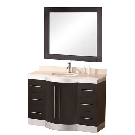 Design House Granite Vanity Top by Design Element Jade 48 In W X 22 In D Vanity In Espresso