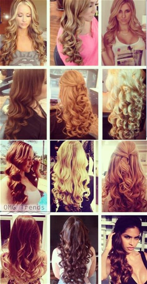 Types Of Curls For Hair by 12 Different Types Of Curls With 1 Iron Hairstyles