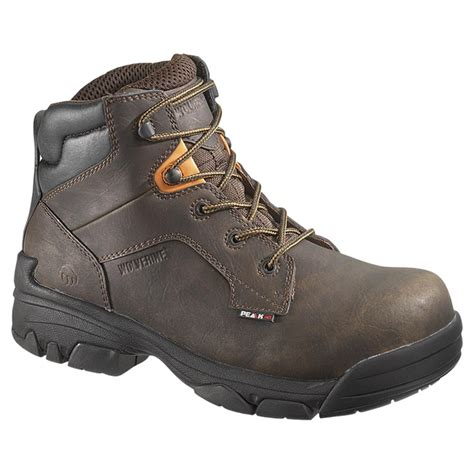 mens composite toe work boots s wolverine peak ag 6 quot merlin waterproof composite toe