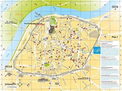 map of avignon avignon map my