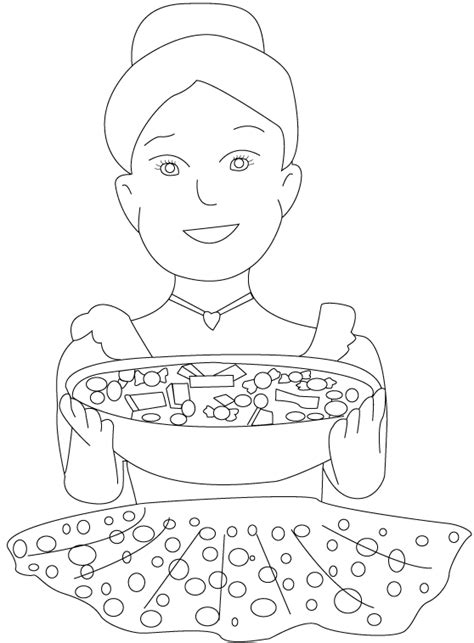 free halloween candy coloring pages