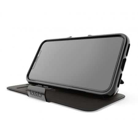 gear oxford iphone xs max slim wallet case black