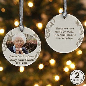 personalized photo memorial christmas ornament  loving memory  sided photo christmas
