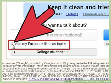 omegle unmoderated section how to chat with girls only on omegle 4 steps with pictures