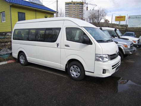 Toyota Commuter 2012 2012 Toyota Hiace Pictures 2 7l Gasoline Fr Or Rr