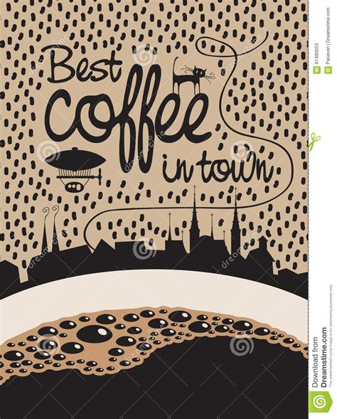 best coffee in town best coffee in town stock vector image 61480053