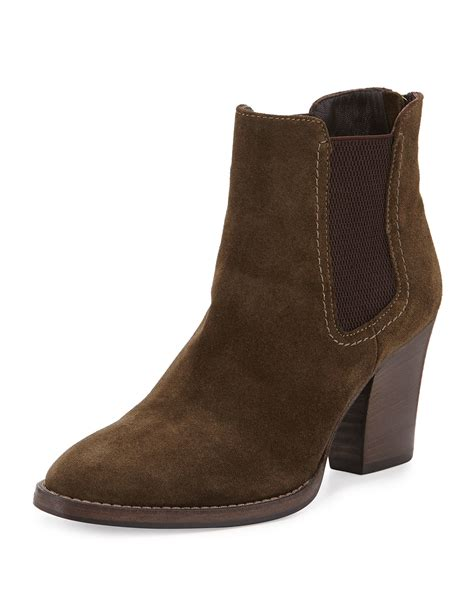 aquatalia fairly suede ankle boots in green lyst
