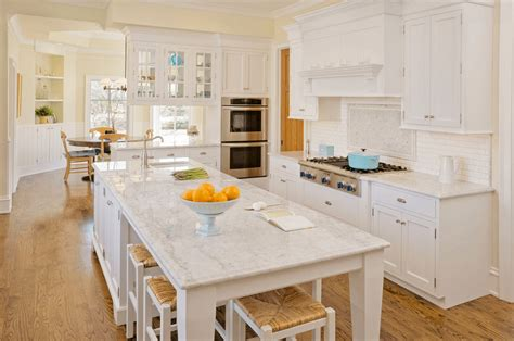 white kitchen island with seating 30 white kitchen design ideas for modern home
