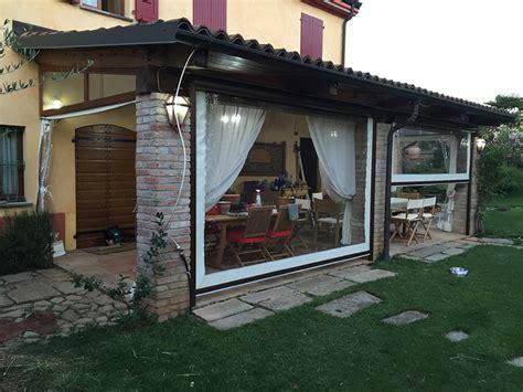 tende trasparenti in pvc chiudere veranda con tende con chiusura in pvc trasparente