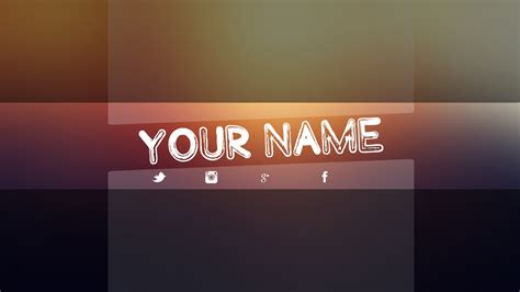 Youtube Banner Template Download Photoshop Best Template Idea Banner Template 2017