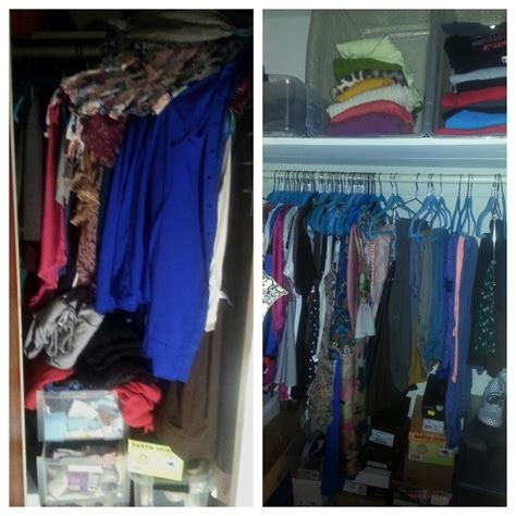 s closet organization before and after organize