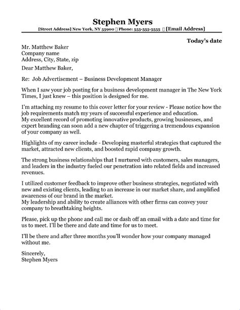 cover letters sales marketing jobs