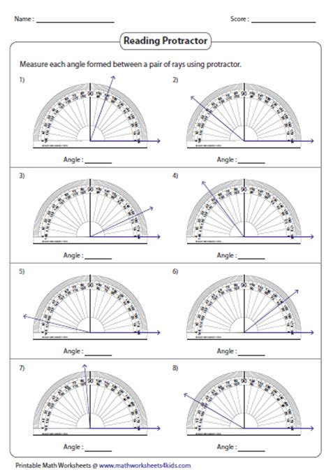 measuring angles with a protractor worksheet pdf measuring angles and protractor worksheets