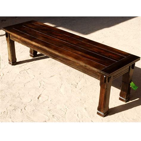 Rustic Wooden Benches Indoor rustic unique wooden backless bench dining room indoor outdoor furniture new ebay