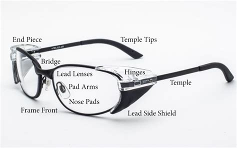 what are the parts of a lead eyeglass frame universal