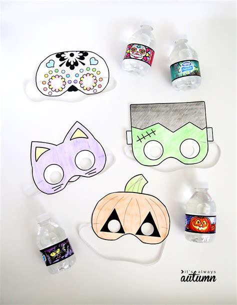 download printable halloween masks halloween masks to print and color it s always autumn