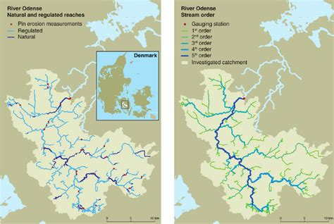 Figure Brian Laudrup Dan002 Denmark the river odense catchment on the island of funen denmark with a map