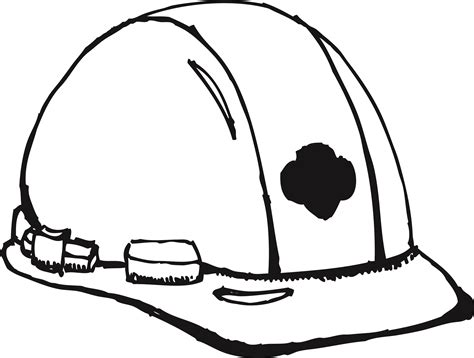 hard hat sketches sketch coloring page