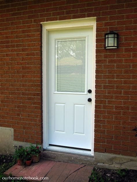 Exterior Door With Built In Blinds Our House Our Home Notebook
