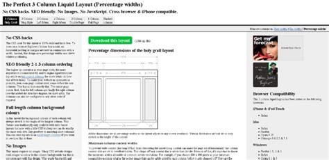 Layout Liquido Css | sito web a 3 colonne con css layout liquido compatibile