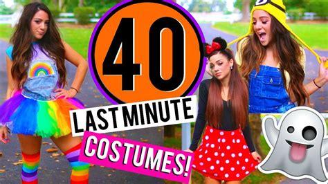 minute diy halloween costumes niki  gabi youtube