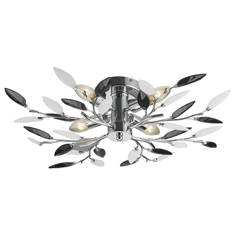 Black Light Fittings Ceiling Leaf Pendant 4 Light