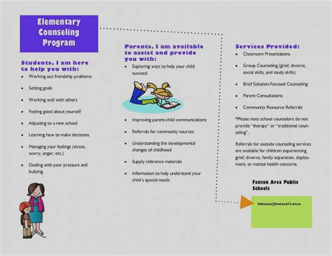 Wonderful Of School Counselor Brochure Free Elementary Counseling Brochure Design Ideas Counseling Brochure Templates Free