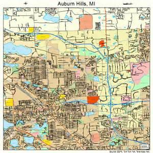 auburn michigan map 2604105