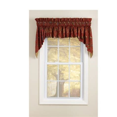 Tapered Valance tapered rod pocket valance curtains rod pocket pole