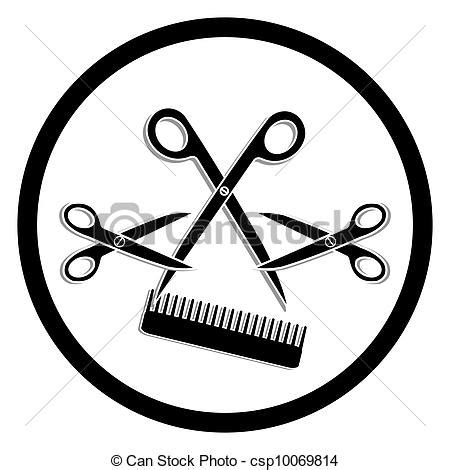 Hairstyle Tools Designs For Silhouette Cutting by Haircut Cliparts