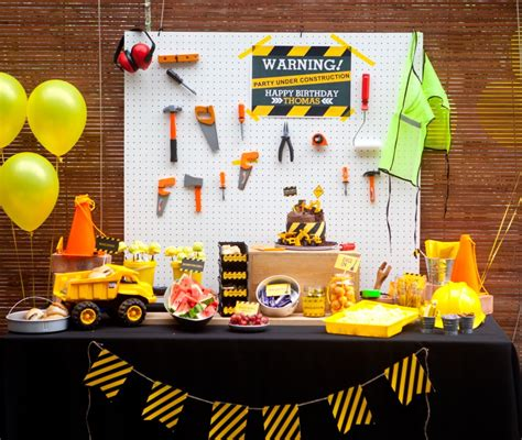birthday video themes 1st birthday party ideas for boys construction party