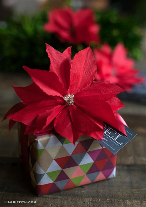 Paper Poinsettia Craft - paper poinsettia craft inspiration
