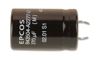epcos capacitor philippines b43504a9476m000 epcos electrolytic capacitor snap in 47 181 f 400 v b43504 series 3000 hours