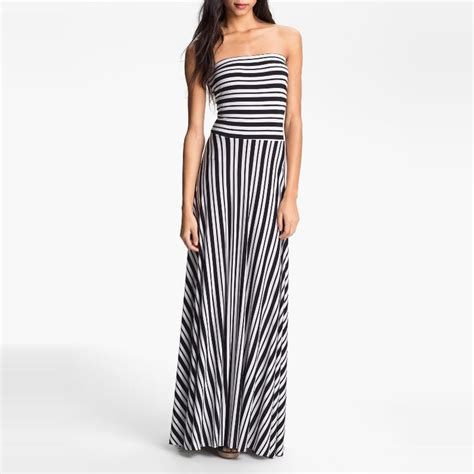 Dress Best Stripe felicity coco stripe strapless maxi dress rank style