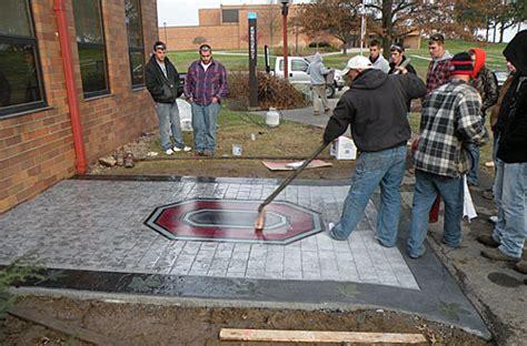 concrete stamping contractors handle maintenance