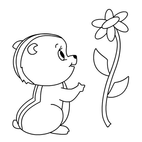 Printable Coloring Pages Coloring4all Com Chipmunk Coloring Page