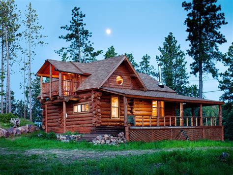 Hewn Log Cabin by Mountain Crest One Of A Secluded Hewn Log