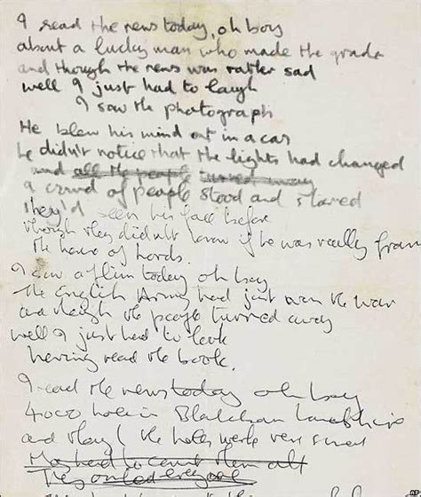 testo yesterday beatles lyrics for beatles song expected to sell for 700k boing
