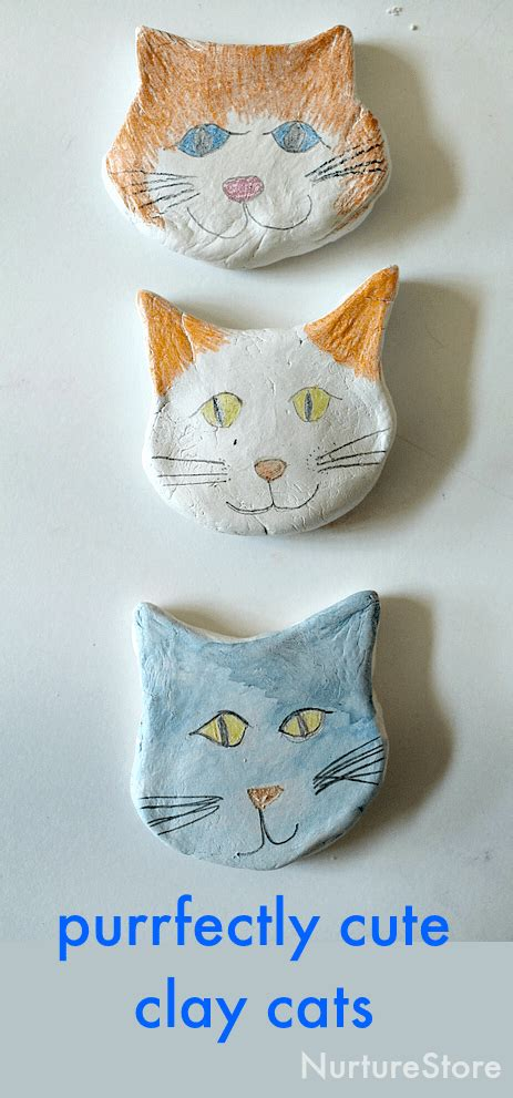 cat craft for purrfectly cat craft using air drying clay nurturestore