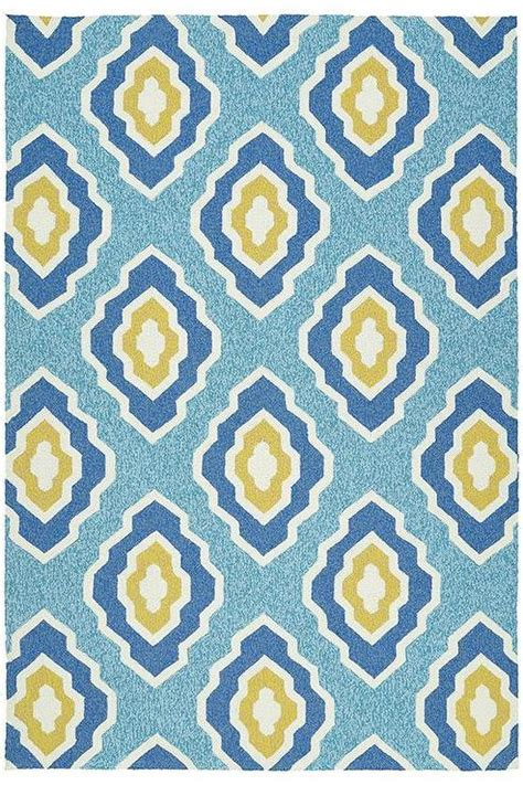 Yellow And Blue Outdoor Rug with Blue And Yellow Quatrefoil Outdoor Rug