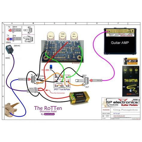 diy rat pedal rat based distortion diy guitar pedal pcb rotten