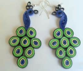 Paper Jewellery Design And Make - peacock quilling paper earring designs for